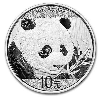 新品未使用 2018 中国 パンダ銀貨 30グラム クリアーケース付き