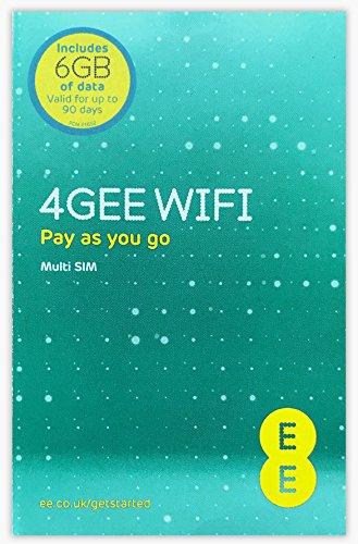 イギリス、ヨーロッパ各国で使えるプリペイドSIMカード EE SIM【6GB/90日利用可能】