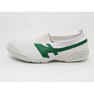 JES2101緑上履き・上靴呼吸シューズ