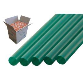 ストレートストロー8mm×21cm包装なし緑色300本入×20箱【メーカー直送・代引き不可・時間指定不可】