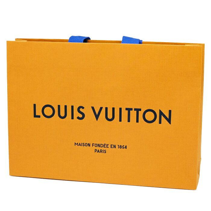LOUIS VUITTON ルイヴィトン 新デザイン ロゴ入ショップ袋 ショッパー 紙袋 1枚 28×20cm 小物用・薄型 【未使用品】新古品