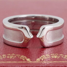 Cartier カルティエ C2 リング K18WG ホワイトゴールド 7,2g 指輪 サイズ8号 証明書付 【中古】美品・Aランク