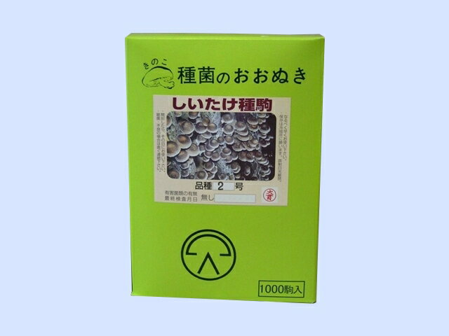 大貫菌蕈 しいたけ種駒 品種2号 1000駒入