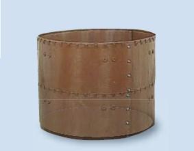 【送料無料】サンポリ 円形堆肥枠 1800X1000 H-28