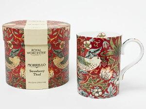 【送料無料】ロイヤルウースター ウイリアムモリス いちご泥棒 マグカップ(レッド) royalwo-6お茶のふじい・藤井茶舗