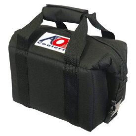 AO Coolers(エーオークーラー) 6パック キャンバス ソフトクーラー/ブラック AO6BKアウトドアギア 5リットル ソフトクーラー アウトドア クーラーボックス ブラック