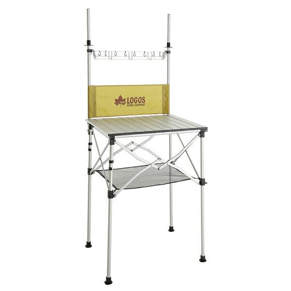 OUTDOOR LOGOS(ロゴス) smart LOGOS kitchen クックテーブル(風防付) 73186510クッキング用品 バーべキュー アウトドア キッチンスタンド キッチンスタンド アウトドアギア