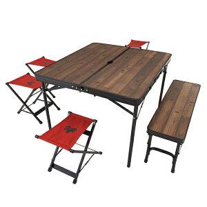 OUTDOOR LOGOS(ロゴス) Tracksleeper ベンチ&チェアテーブルセット6 73188034アウトドアギア テーブルセット レジャーシート テーブル おうちキャンプ ベランピング