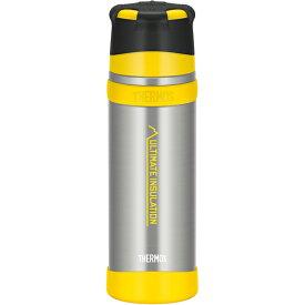 THERMOS(サーモス) 山専ステンレスボトル/ クリアステンレス(CS)/ 0.75L FFX-751アウトドアギア ステンレスボトル 水筒 マグボトル イエロー おうちキャンプ ベランピング