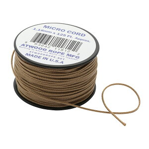 Atwoodrope(アトウッドロープ) マイクロコード/タン 44002アウトドアギア ロープ、自在金具 ハンマー・ペグ・ロープ等 タープ テントアクセサリー ブラウン おうちキャンプ ベランピング