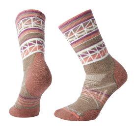 SmartWool(スマートウール) Ws PhDアウトドアミディアムパターンクルー/フォッシル/S SW71073001004アウトドアウェア 女性用ソックス ソックス レディースウェア 靴下 ピンク 女性用