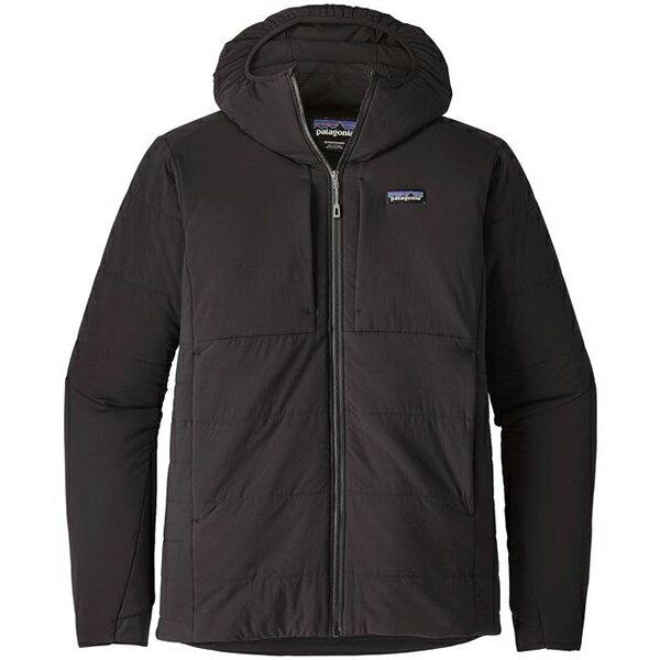 patagonia(パタゴニア) Ms Nano-Air Hoody/BLK/S 84365男性用 ブラック アウター メンズウェア ウェア ジャケット 中綿入り ジャケット 中綿入り男性用 アウトドアウェア
