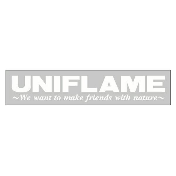 UNIFLAME(ユニフレーム) UFステッカー シルバー 690055デカール ステッカー エアロパーツ アウトドアギア