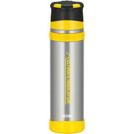 THERMOS(サーモス) 山専ステンレスボトル/ クリアステンレス(CS)/ 0.9L FFX-901アウトドアギア ステンレスボトル 水筒 マグボトル イエロー おうちキャンプ ベランピング