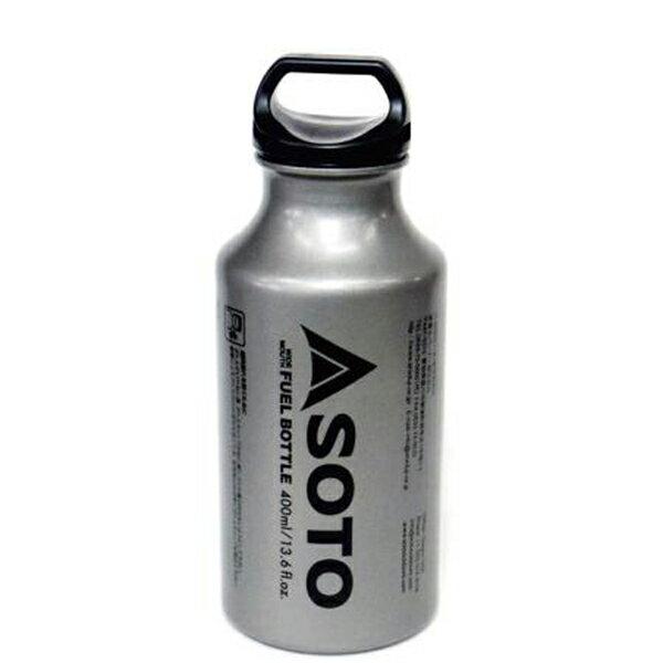 SOTO(ソト 新富士バーナー) 広口フューエルボトル 400ml SOD-700-04-24シルバー 燃料 アウトドア アウトドア 燃料タンク 燃料タンク アウトドアギア