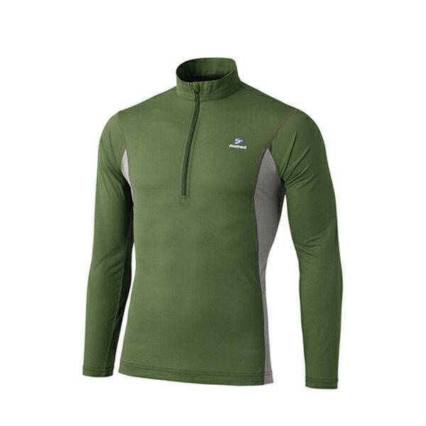 finetrack(ファイントラック) ドラウトエアジップネック Ms CF FMM0411男性用 グリーン カジュアルシャツ トップス メンズファッション 長袖シャツ 長袖シャツ男性用 アウトドアウェア