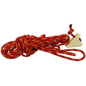 finetrack(ファイントラック) カミナドームガイライン2m蓄光自在付/RD/YL FAG9314アウトドアギア ロープ、自在金具 ハンマー・ペグ・ロープ等 タープ テントアクセサリー レッド おうちキャンプ