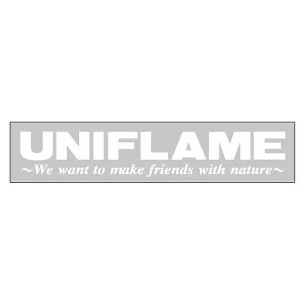 ★エントリーでポイント15倍!UNIFLAME(ユニフレーム) UFステッカー ホワイト 690079デカール ステッカー エアロパーツ アウトドアギア
