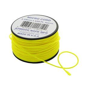 Atwoodrope(アトウッドロープ) マイクロコード/ネオンイエロー 44008アウトドアギア ロープ、自在金具 ハンマー・ペグ・ロープ等 タープ テントアクセサリー イエロー おうちキャンプ ベランピ