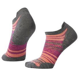 SmartWool(スマートウール) Ws PhDランウルトラライトストライプマイクロ/ミディアムグレー/M SW70551003005アウトドアウェア 女性用ソックス ソックス レディースウェア 靴下 ピンク 女性用