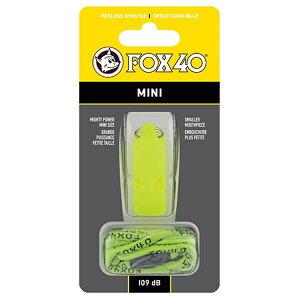 FOX40(フォックス40) ミニホイッスル/ イエロー 23262アウトドアギア 救助用 笛 アウトドア ホイッスル イエロー おうちキャンプ ベランピング