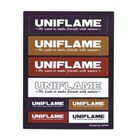 UNIFLAME(ユニフレーム) UFステッカー/コンボ 690109アウトドアギア スキー スノーボード用アクセサリー ステッカー おうちキャンプ ベランピング