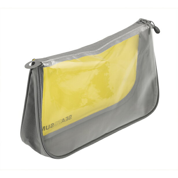 SEA TO SUMMIT(シートゥーサミット) シーポーチ/ライム/グレー/M ST85113グリーン アクセサリーポーチ バッグ アウトドア ポーチ、小物バッグ 化粧品、洗顔用品バッグ アウトドアギア