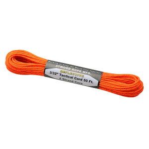 Atwoodrope(アトウッドロープ) タクティカルコードリフレクティブ/ネオンオレンジ 44015アウトドアギア ロープ、自在金具 ハンマー・ペグ・ロープ等 タープ テントアクセサリー オレンジ おう