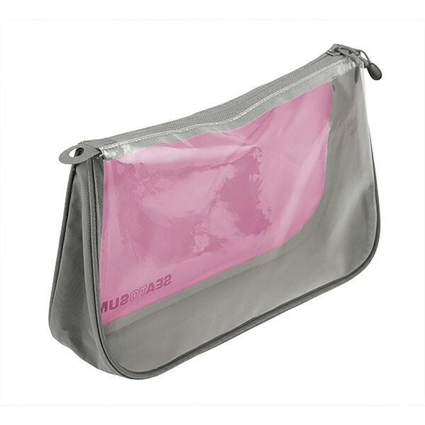 SEA TO SUMMIT(シートゥーサミット) シーポーチ/ベリー/グレー/M ST85113ピンク アクセサリーポーチ バッグ アウトドア ポーチ、小物バッグ 化粧品、洗顔用品バッグ アウトドアギア