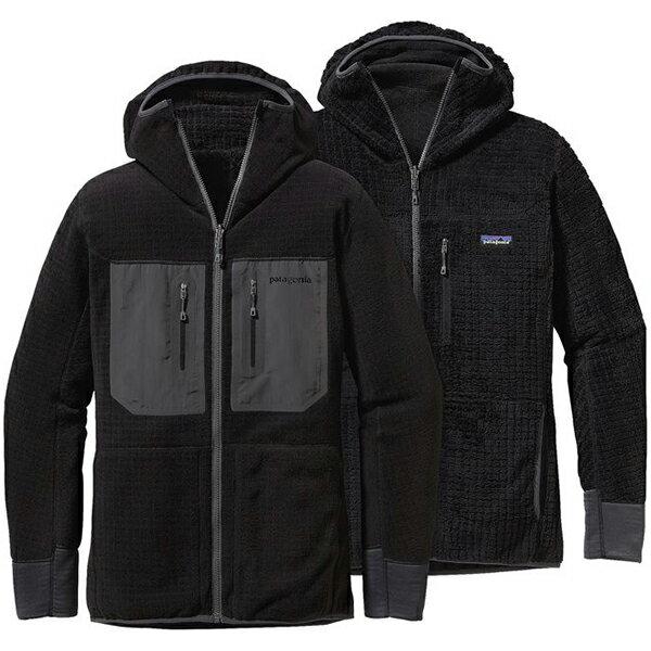 patagonia(パタゴニア) Ms R3 Hoody/BLK/XS 25772男性用 ブラック アウター メンズウェア ウェア フリースジャケット フリースジャケット男性用 アウトドアウェア