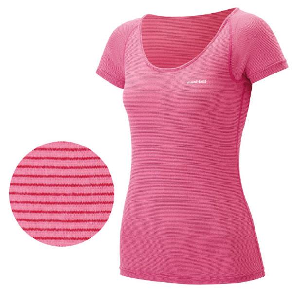 ★エントリーでポイント5倍!mont-bell(モンベル) Z-L LW UネックTシャツ WS/PK/RU/S 1107569 1107569女性用 ピンク 防寒インナー レディースウェア ウェア 女性用インナー 半袖シャツ アウトドアウェア