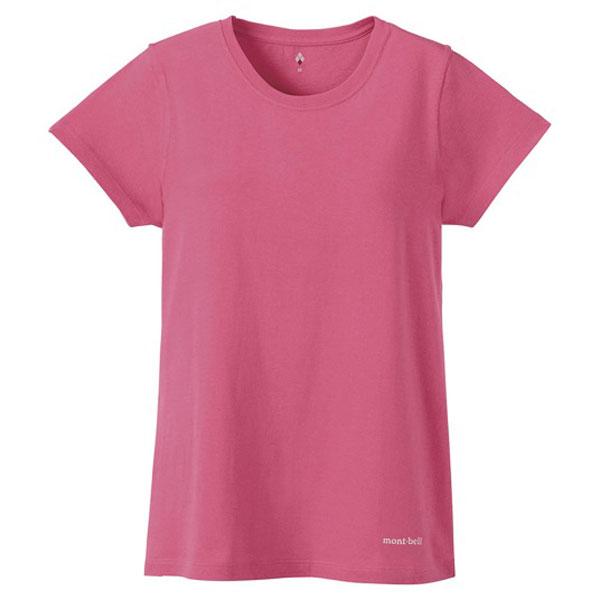 ★エントリーでポイント5倍!mont-bell(モンベル) コットンTOPロゴWS/COMO/M 2104446女性用 ピンク レディースウェア ウェア アウトドア 半袖Tシャツ 半袖Tシャツ女性用 アウトドアウェア