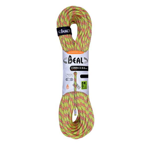 BEAL(ベアール) 8.6mm コブラ2 ユニコア 50m/アニス BE11028イエロー アウトドア アウトドア スポーツ ロープ ダブルロープ アウトドアギア