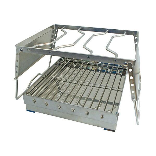Highmount(ハイマウント) アジャスタブルグリルセット L 23223シルバー ダッチオーブン バーべキュー用品 調理器具 アウトドアギア