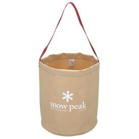 snow peak(スノーピーク) キャンプバケツ FP-152ベージュ バッグ アウトドア アウトドア バケツ バケツ アウトドアギア