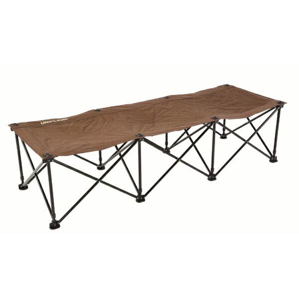 UNIFLAME(ユニフレーム) リラックスコット/ブラウン×ブラック 680254ブラウン イス レジャーシート テーブル チェア フォールディングチェア アウトドアギア