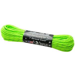Atwoodrope(アトウッドロープ) パラコードリフレクティブ/ネオングリーン 44025アウトドアギア ロープ、自在金具 ハンマー・ペグ・ロープ等 タープ テントアクセサリー グリーン おうちキャン