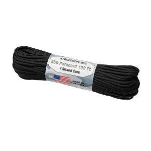 Atwoodrope(アトウッドロープ) パラコード/ブラック 44028アウトドアギア ロープ、自在金具 ハンマー・ペグ・ロープ等 タープ テントアクセサリー ブラック おうちキャンプ ベランピング