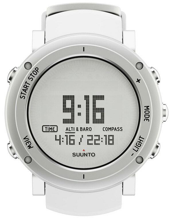 SUUNTO(スント) [正規品・2年保証]CORE ALU PURE WHITE(コア ピュアホワイト) SS018735000男女兼用腕時計 腕時計 高機能ウォッチ アウトドアギア