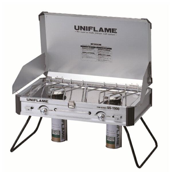 UNIFLAME(ユニフレーム) ツインバーナー US-1900 610305キャンプ用バーナー クッキング用品 バーべキュー ツーバーナーストーブ ストーブガス アウトドアギア