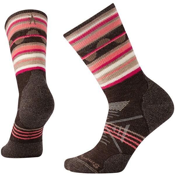 SmartWool(スマートウール) Ws PhDアウトドアミディアムパターンクルー/チェスナット(new)/M SW71150女性用 ブラウン 靴下 レッグウェア ソックス 化繊 アウトドアウェア