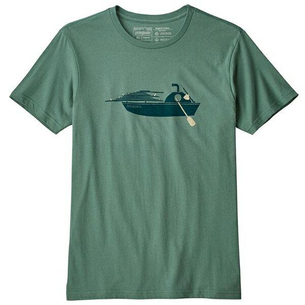 patagonia(パタゴニア) Ms Haul Aboard Organic T-Shirt/PST/XL 39149男性用 グリーン カットソー Tシャツ トップス 半袖Tシャツ 半袖Tシャツ男性用 アウトドアウェア