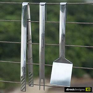 directdesigns(ダイレクトデザイン) pieces tool set slimline 3ピース ステンレスツールセット スリムラインクッキング用品 バーべキュー アウトドア キッチンツール キッチンツール アウトドアギア