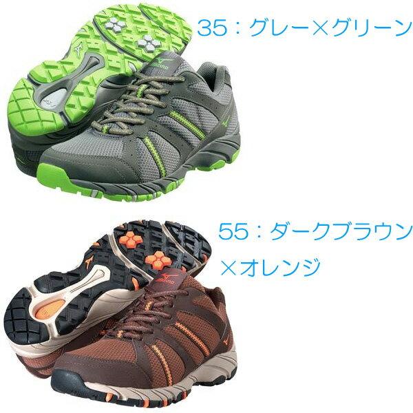 mizuno(ミズノ) OD-EX02/35(グレーXグリーン)/23 B1GA1401ウォーキングシューズ メンズ靴 靴 アウトドアスポーツシューズ アウトドアギア
