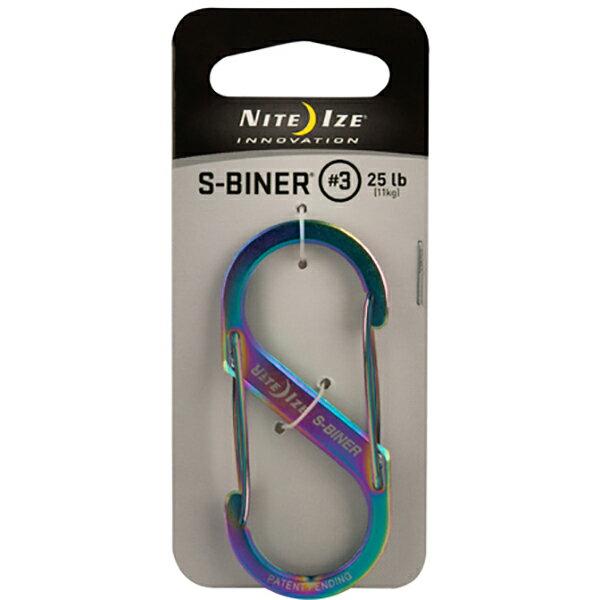 NITE-IZE(ナイトアイズ) NI Sビナー#3 スペクトラム 46375マルチカラー ホイッスル ホイッスル) 小物(キーホルダー アクセサリーカラビナ アウトドアギア