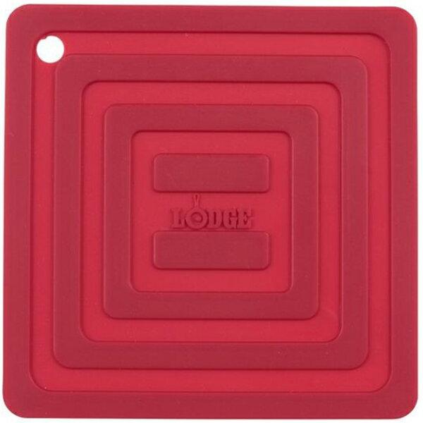 LODGE(ロッジ) [正規品]LDG シリコンスクエアポットホルダーRD AS6S41 19240094レッド ダッチオーブン クッキング用品 バーべキュー アウトドアギア
