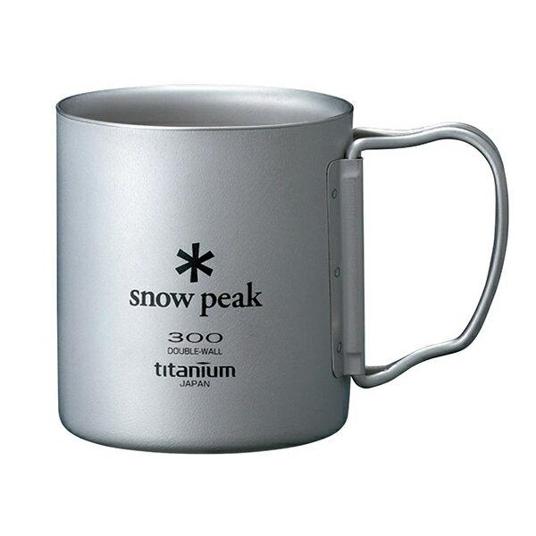 snow peak(スノーピーク) チタンダブルマグ 300 フォールディングハンドル MG-052FHRカップ キャンプ用食器 アウトドア テーブルウェア テーブルウェア(カップ) アウトドアギア