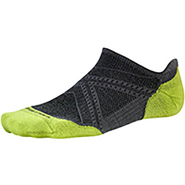 SmartWool(スマートウール) PhDランライトエリートマイクロ/グラファイト/M SW70503男性用 グレー 靴下 メンズウェア ウェア ソックス ウール アウトドアウェア