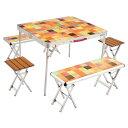 Coleman(コールマン) ナチュラルモザイクファミリーリビングセット プラス 2000026757テーブル レジャーシート テーブルセット アウトドアギア
