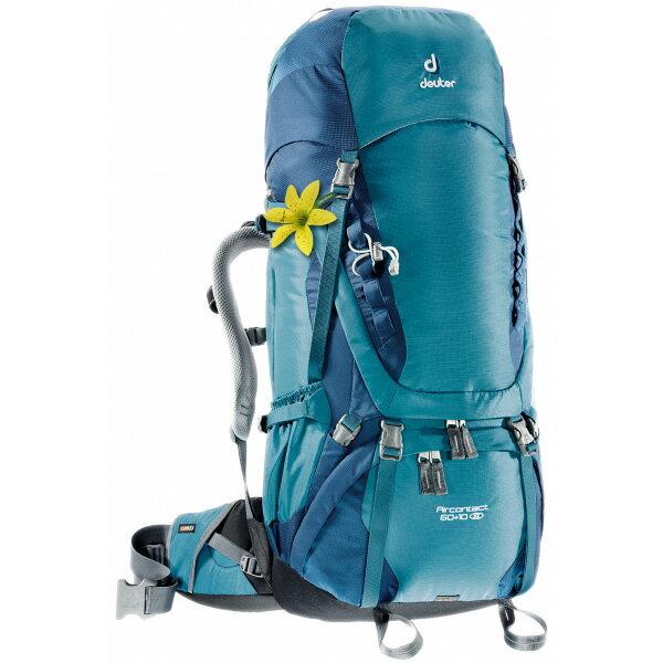 deuter(ドイター) エアコンタクト 60+10 SLデニム×ミッドナイト D3320416女性用 ブルー リュック バックパック バッグ トレッキングパック トレッキング60 アウトドアギア